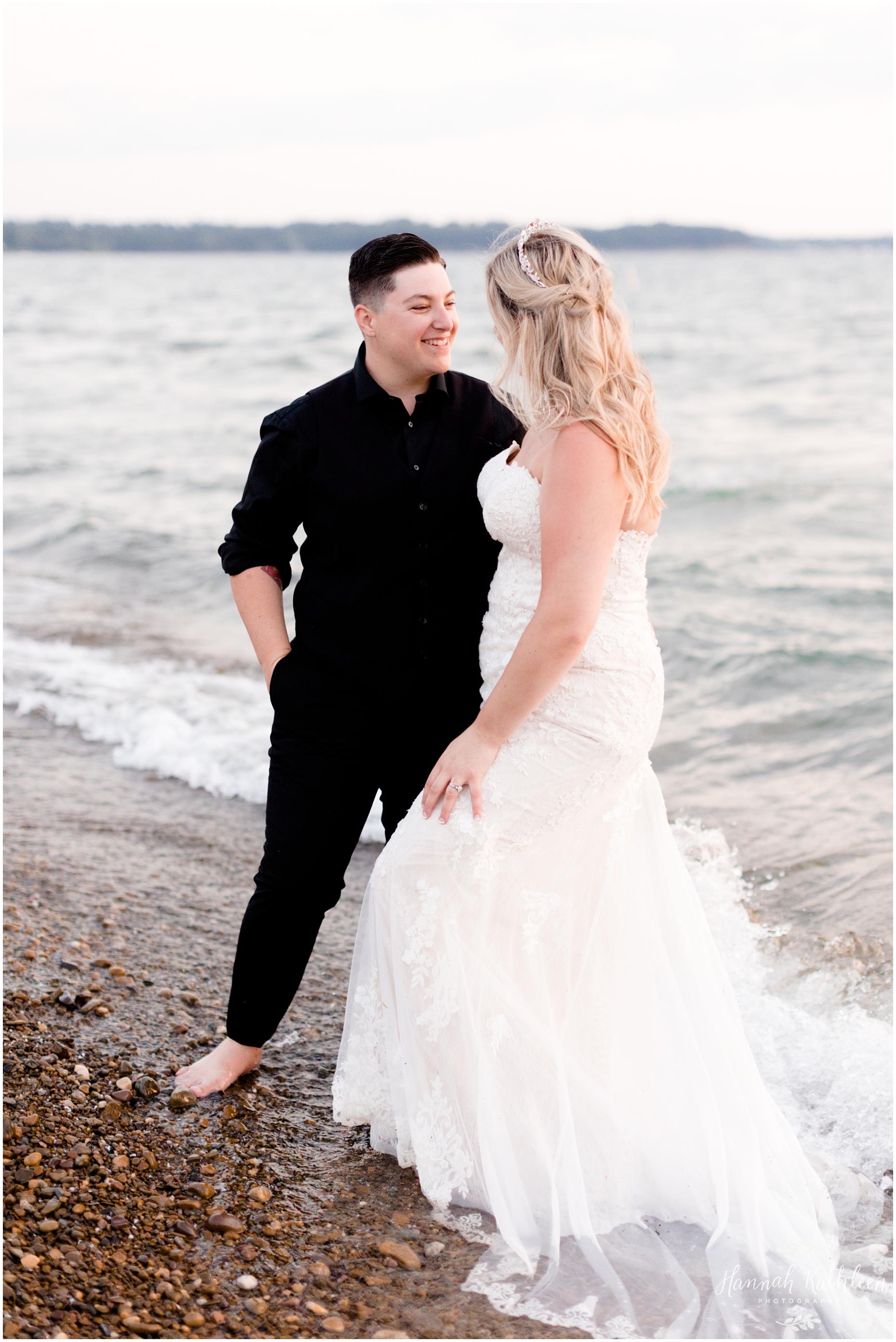 sunset-bay-lake-erie-beach-small-wedding-elopement-trash-the-dress-lgbtq-photographer